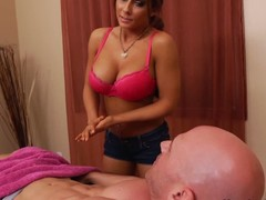 His girlfriends team up Madison Ivy is a skillful massage therapist with sexy huge tits. Johnny Sins wont soon forget the massage she gives him. Madison Ivy strips naked increased by takes his prick between her massive melons.