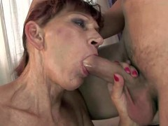 Irene is a slutty mature redhead with saggy bowels coupled with wet many times used pussy. She gets her fancy hole filled with throbbing young cock. Watch older woman satisfy her sexual needs coupled with desires with young guy.