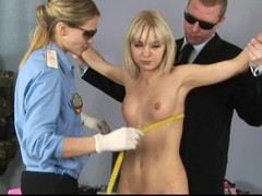 Hot blonde gets a special gyno exam