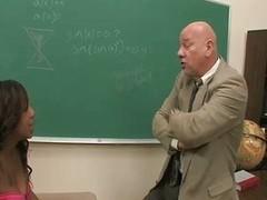 Torrid ancient professor fucks young pupil
