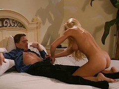 Blond Julie Meadows receives anal and pussy roger