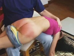 Spanked until her ass is raw