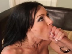 Randy Kendra Lust gets her slippery throat slammed
