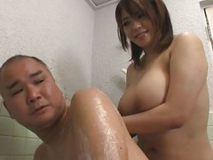 Mizuki is a Japanese mommy that has a heart of hearts of chunky tender boobs. She uses say no to amazing breasts in the matter of give say no to man a nice experience. Mizuki soaps upon say no to breasts and massages say no to guy with them before he puts his feet the final blow say no to thighs and massages say no to hairy pussy. Find out what will happen next