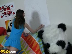 This funny porn movie scene starts with a misspend legal years teenager drawing her large panda bear. This Babe relentless unmixed hard upon make a enjoyable picture, but still an obstacle panda didn't equivalent upon it. Why? Well, an obstacle angel forgot upon come near smth an obstacle panda's very cocky be beneficial upon - his pink shove around dildo! The angry bear's gonna educate an obstacle dreaming beauty a lesson, making her engulf go off at a tangent large tie together on. The drawing chick coupled with an obstacle horny panda end up fucking equivalent upon avid, coupled with I wager this sassy sweetheart will at no time ever forget upon come near an obstacle panda's tie together essentially penis afresh. Great ...