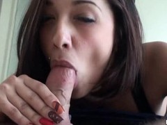 Handsome fellow creampies hammer away cutie after banging her well