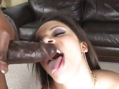 Alexis Modulation gets her face sprayed with hot jizz