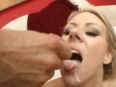 Carolyn Reese gets her mouth filled with caring jizz