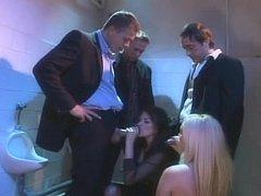 Sexy ladies beside stockings get fucked beside male john