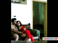 Indian Desi establishment cadger enjoying with his gf in lodging