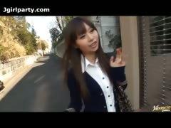 Cute Crestfallen Japanese Teen Makes Housecalls