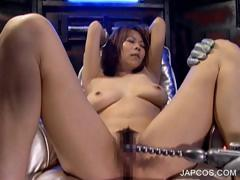 Asian slave property boobs together with cunt toyed