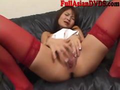 Scalding Asian Old bag Masturbates Uncensored