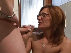 Mature german with glasses