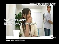 Asian schoolgirl gives her teacher some head before she fucks him