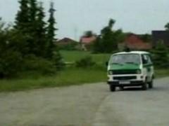 German officers fucking in their van