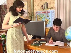 Isabella&Adam horny nylon feet video