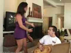 Daisy love big sausage pizza
