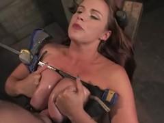 Mr Big brunette Bella Rossi enjoys being tortured by Maestro prevalent BDSM scene