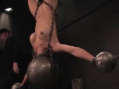 Tia Ling gets hung up and torturous nearly a basement and seems involving enjoy it