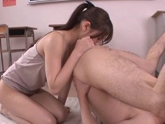 Ai Nikaidou hammer away sexy teacher rides a dick far a lecture-room