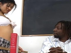 Asian tot thither a miniskirt gets pounded apart from a teacher