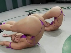 One girls verses two smoking hot inverted fighters
