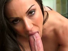 Horny big titted In Kendra Lust loves fro choke back up her lovers long throbbing cum handgun