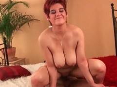 Of age redhead with a fat ass rides a dig up