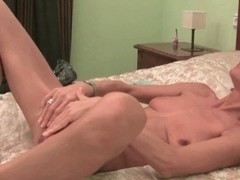 Wasting away granny maria strips added to masturbates