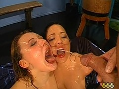 Astounding darling gives wet fellatio with amazing dutch have sex