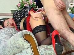 Raunchy French maid doesn
